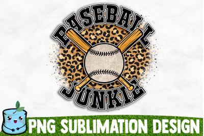 Baseball Junkie Sublimation Design