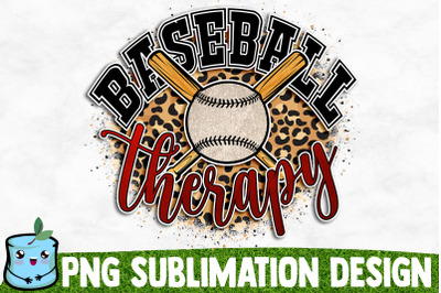 Baseball Therapy Sublimation Design