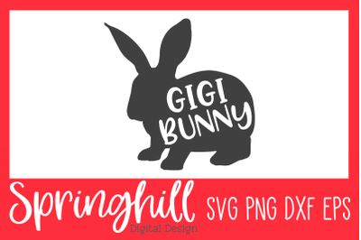 Gigi Bunny Easter SVG PNG DXF & EPS Design Cutting Files