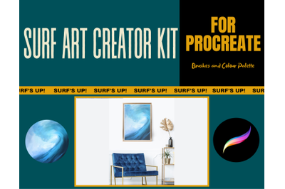 Surf Art Creator Kit for Procreate - Brushes and Palette