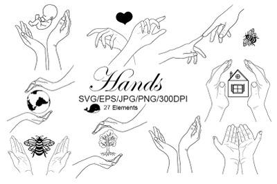 Hands. SVG. Baby. Birthday. Holiday. World Children's Day