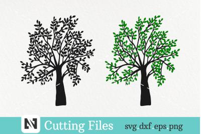 2 Beautiful Tree Silhouette Svg File-Tree Svg, Family Tree