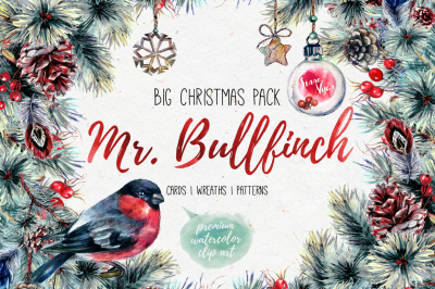 Mr.Bullfinch Christmas Watercolor Pack