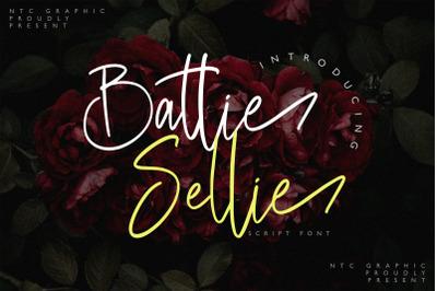 Battie Sellie - Script Font