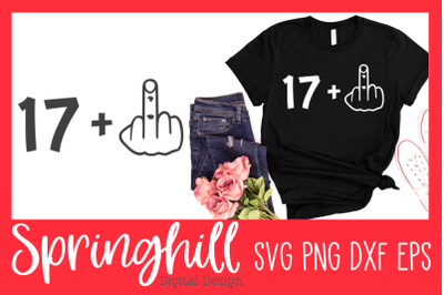 18th Birthday T-Shirt SVG PNG DXF & EPS Design Cutting Files