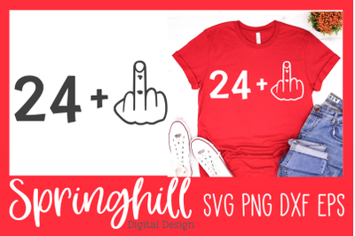 25th Birthday T-Shirt SVG PNG DXF & EPS Design Cutting Files