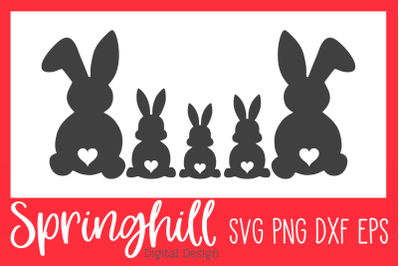 Easter Bunny Family SVG PNG DXF & EPS Design Cutting Files