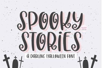 SPOOKY STORIES Cute Halloween Font