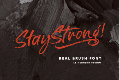 Stay Strong - Dry Brush Font