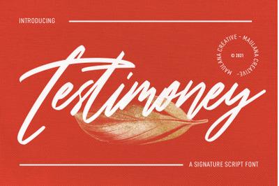Testimoney Signature Font
