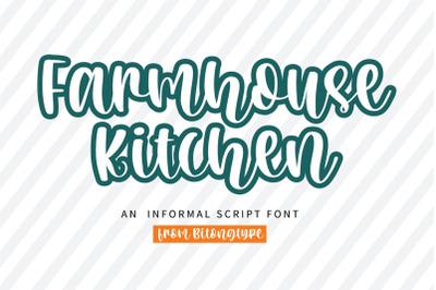 Farmhouse Kitchen - A quirky handwritten script font