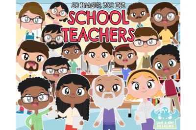 School Teachers Clipart - Lime and Kiwi Designs