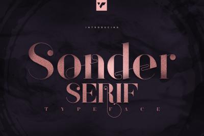 Sonder Serif Typeface - 5 weights