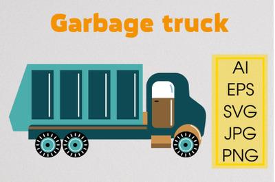 Garbage truck - SVG