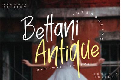 Bettani Antique - Handwritten Font