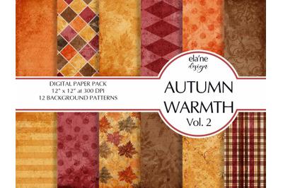 Autumn Warmth Digital Paper Pack ( Vol. 2)