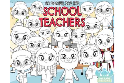 School Teachers Digital Stamps - Lime and Kiwi Designs