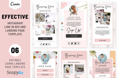 Instagram Link In Bio and Landing Page Template