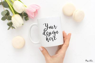 Mug styled stock image