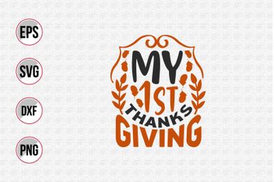 Thanksgiving typographic quotes design.