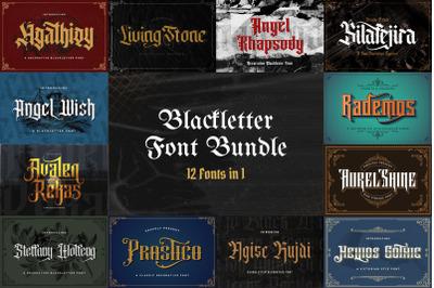 Blackletter Font Bundle Vol 1