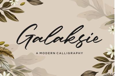 Galaksie Modern Calligraphy Font