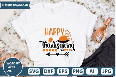 happy thanksgiving Svg cut file