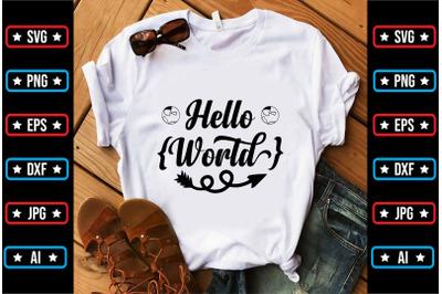 Hello World svg design
