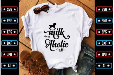milk aholic svg design