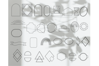 Frame Logo, logo elements, svg frames,One line, modern frames, minimal