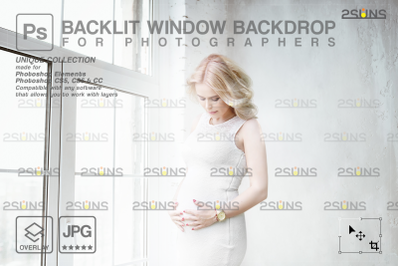 Curtain backdrop & Maternity digital photography backdrop