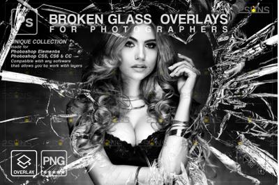 Broken Glass Photoshop Overlay & Halloween overlay
