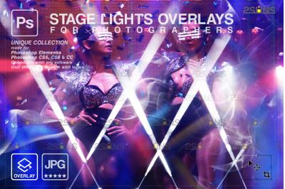 Neon overlay & Photoshop overlay: Bokeh lights photo overlays