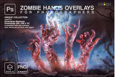 Halloween photo overlay & Halloween clipart: Zombie hands png, horror