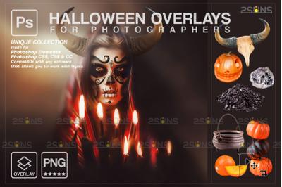 Halloween overlay & Photoshop overlay: Halloween pumpkin overlays, Sku