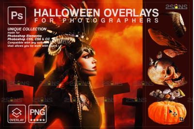 Halloween overlay & Photoshop overlay: Halloween pumpkin overlays,