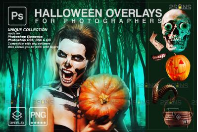 Halloween overlay & Halloween pumpkin overlays: Photoshop overlay,
