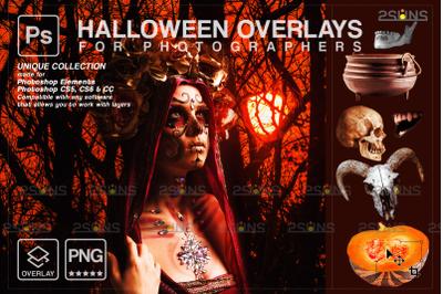 Halloween overlay & Photoshop overlay, Skull png photo overlays,