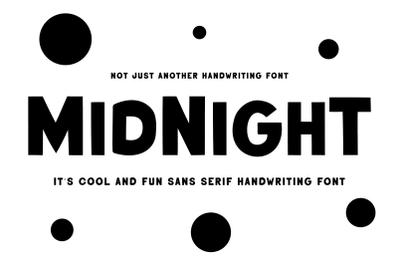 Midnight | Handwriting Sans Serif