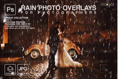 Rain overlay & Photoshop overlay: Water overlays,