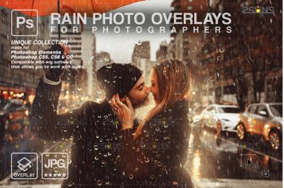 Rain overlay & Photoshop overlay: Water overlays
