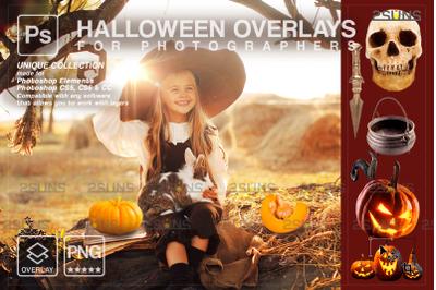 Halloween overlay & Halloween digital backdrop: Photoshop overlay, sku