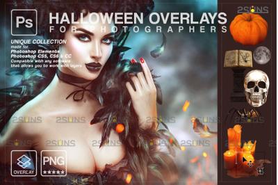 Halloween overlay & Halloween digital backdrop: Photoshop overlay