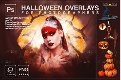 Halloween overlay & Halloween photoshop overlay, skull overlay,