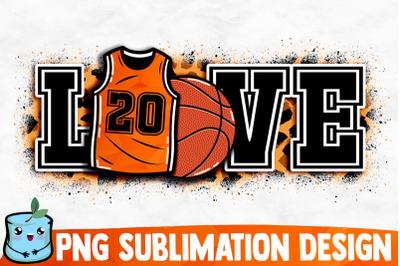 Basketball Love Sublimation Design