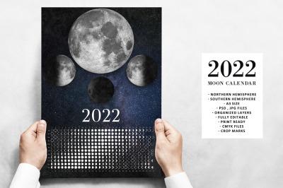 Moon Calendar 2022 Real