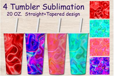 Tumbler Sublimation Waves. 20 OZ. Tumbler skinny Wrap.Foil