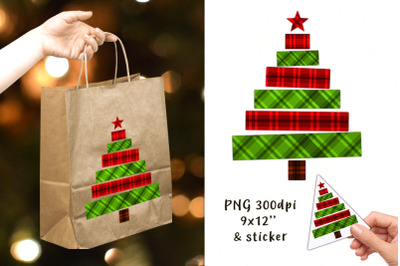 Decorative Christmas tree in a cage. Sublimation