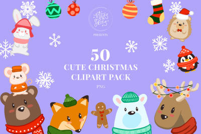 Cute Christmas Clipart Pack