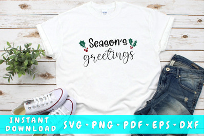 Season's greetings SVG
